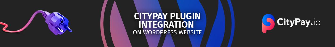 CityPay.io Wordpress plugin integration on website